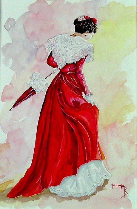 Arlesienne Print by Brigitte Grange