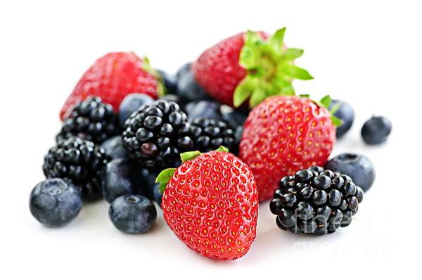 Assorted Fresh Berries Print by Elena Elisseeva