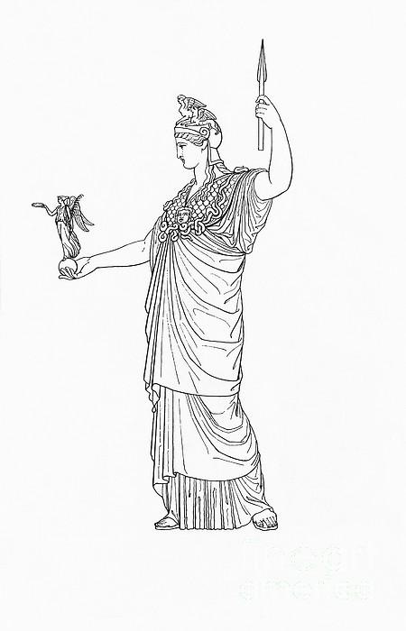 Athena, Greek Goddess Print by Photo Researchers