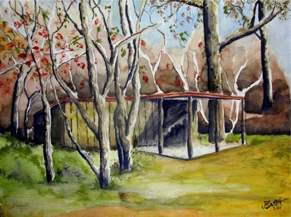 Autumn Shed Painting  - Autumn Shed Fine Art Print