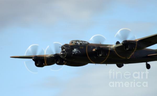 Avro Lancaster Print by Angel  Tarantella
