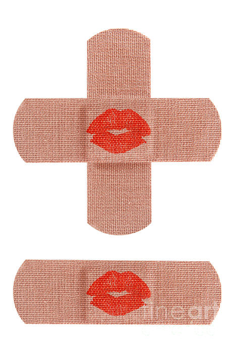 Bandages With Kiss Print by Blink Images