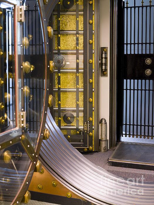 Bank Vault Doors Print by Adam Crowley