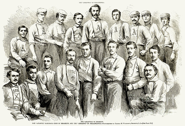 Baseball Teams, 1866 Print by Granger
