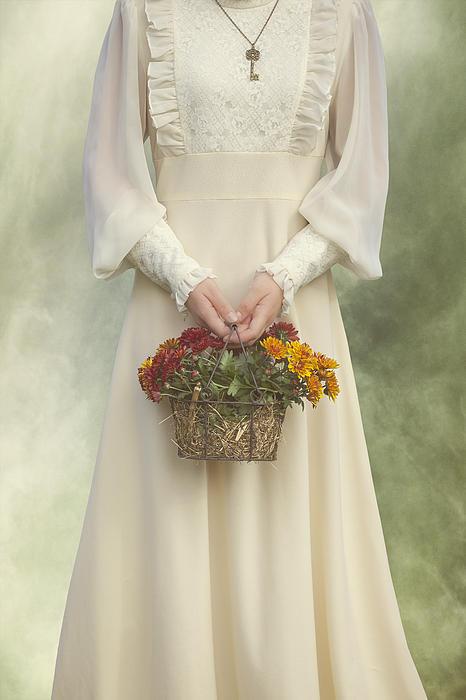 Basket With Flowers Print by Joana Kruse