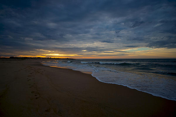 Beach Sunrise Print by Mike Horvath