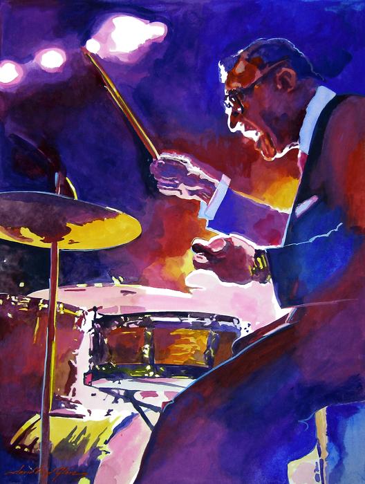 Big Band Ray Print by David Lloyd Glover