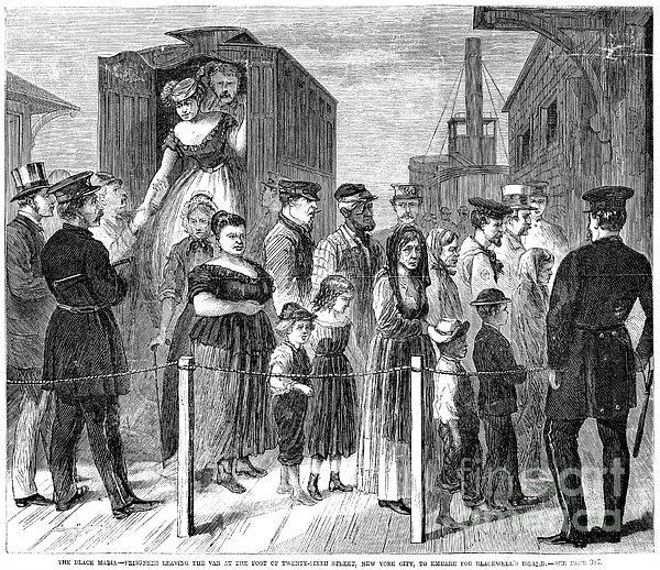Blackwells Island, 1868 Print by Granger