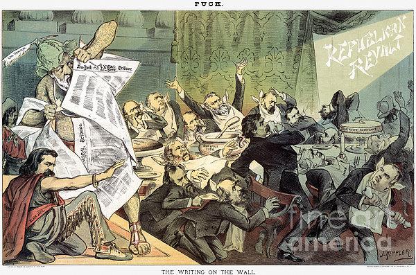 Blaine Cartoon, 1884 Print by Granger