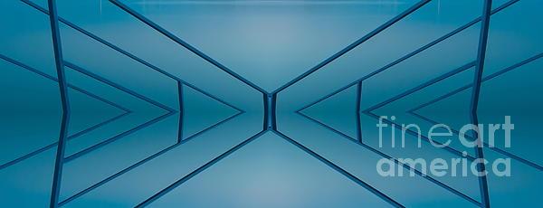 Blue Reflection Print by Odon Czintos