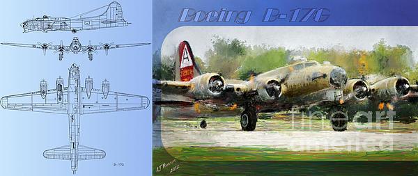 Boeing B-17-g Print by Arne Hansen