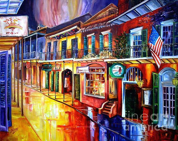 Bourbon Street Red Print by Diane Millsap