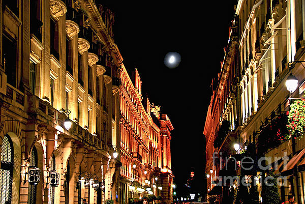 Bright Moon In Paris Print by Elena Elisseeva