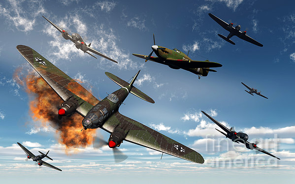 British Hawker Hurricane Aircraft Print by Mark Stevenson