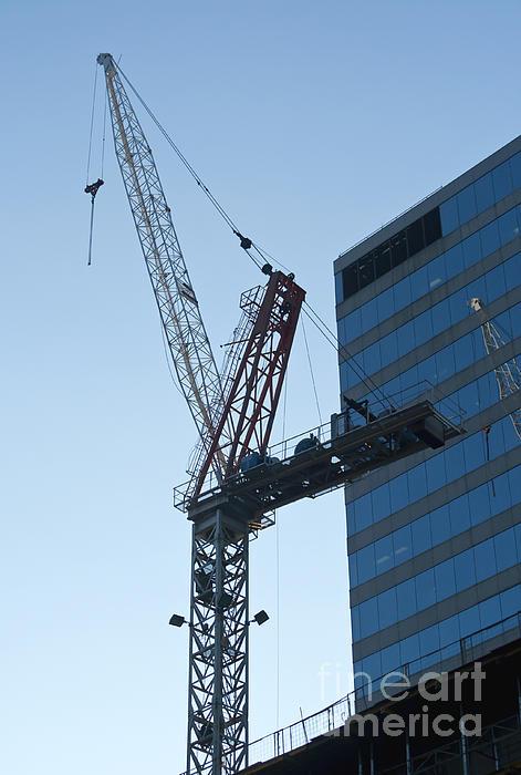Building Crane Print by Blink Images