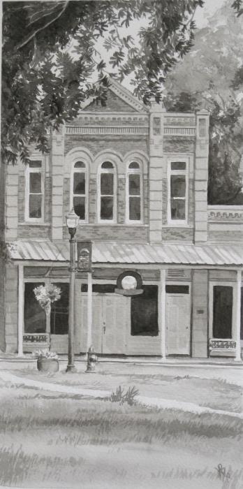 Building On The Square Print by Karen Boudreaux