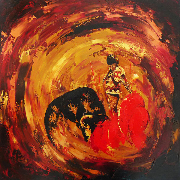 Sally Huntington - Bullfight Study in Bronze