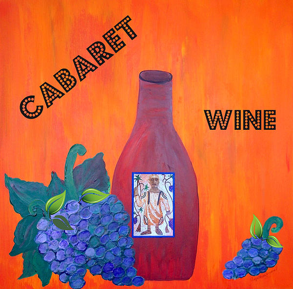 Cabaret Wine Print by Cynthia Amaral