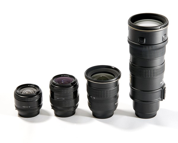 Camera Lenses Print by Johnny Greig
