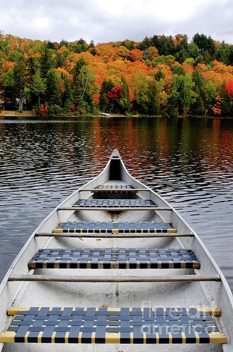 Canoe On A Lake Print by Oleksiy Maksymenko