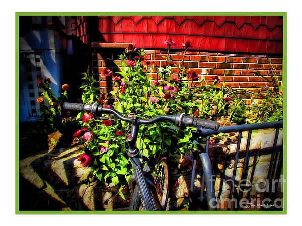 Cape Cod Bike Print by Joan  Minchak