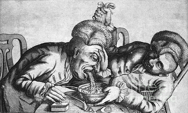 Caricature Of Two Alcoholics, 1773 Print by Science Source