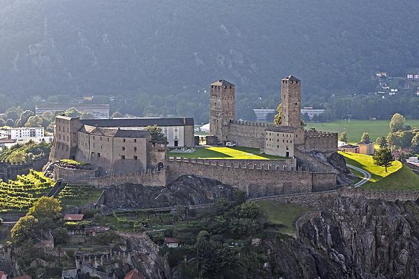 Castel Grande - Bellinzona Print by Joana Kruse