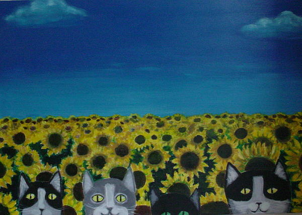 Diana Riukas - Cats and Sunflowers