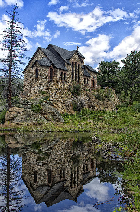 Chapel On The Rock Print by Michael Krahl