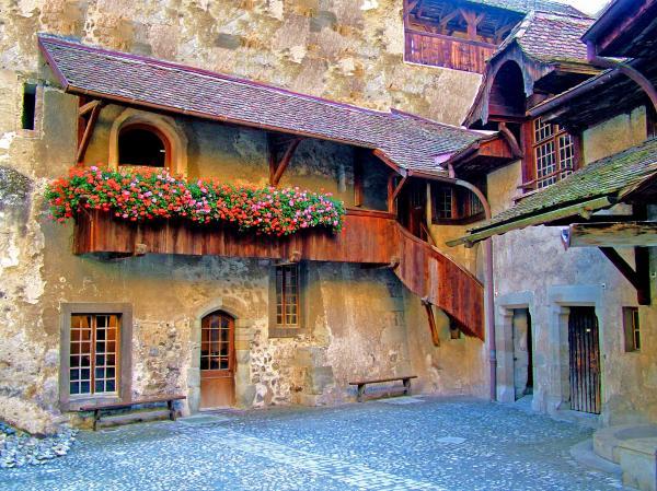 Chateau De Chillon Print by Nick Diemel
