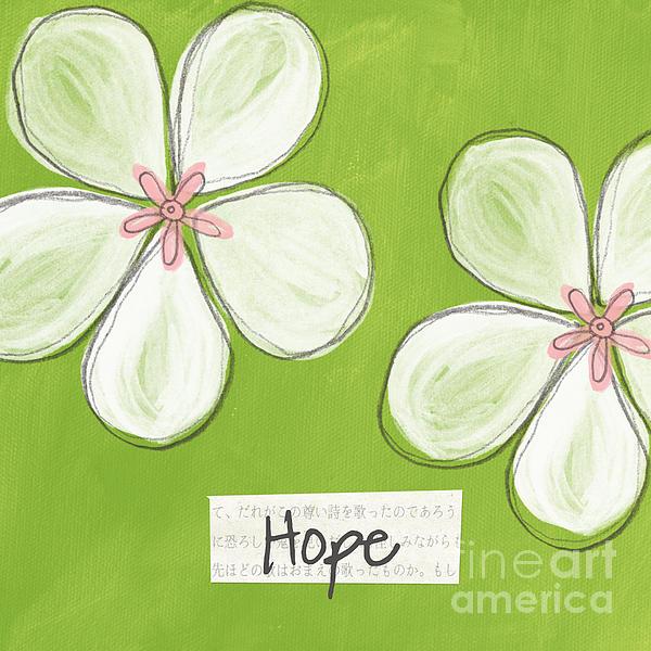 Cherry Blossom Hope Print by Linda Woods