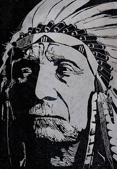 Chief Red Cloud Print by Jim Ross
