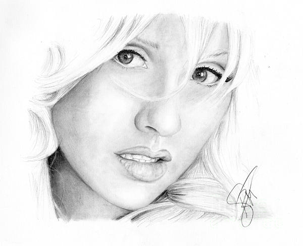 Christina Aguilera Print by Rosalinda Markle