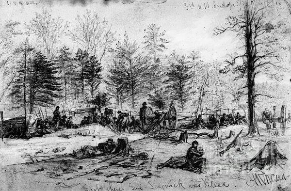Civil War: Spotsylvania Print by Granger