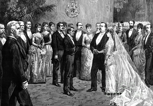 Cleveland Wedding, 1886 Print by Granger