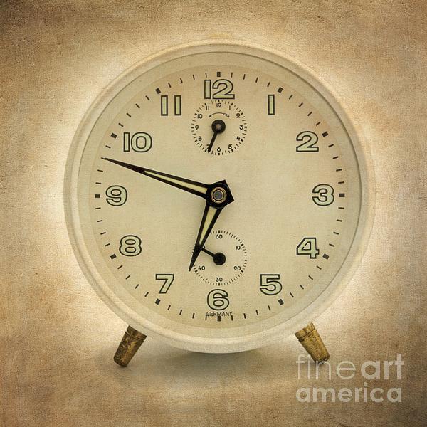 Clock Print by Bernard Jaubert