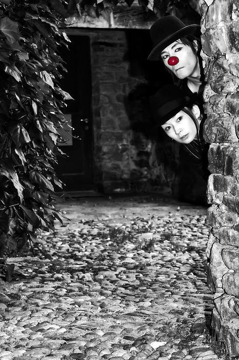 Clown Couple Print by Joana Kruse