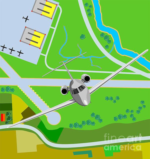 Commercial Jet Plane Print by Aloysius Patrimonio
