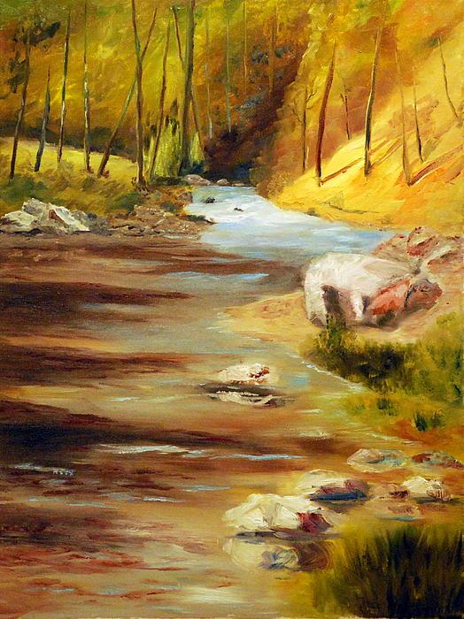 Cool Mountain Stream Print by Phil Burton