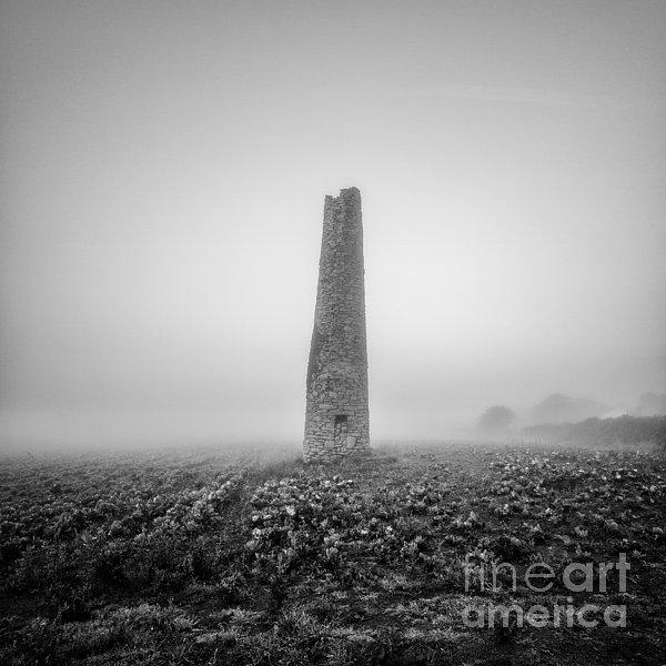 Cornish Mine Chimney Print by John Farnan