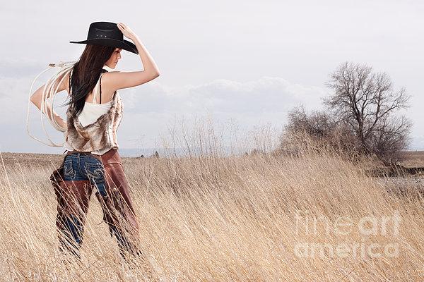 Country Girl Print by Cindy Singleton