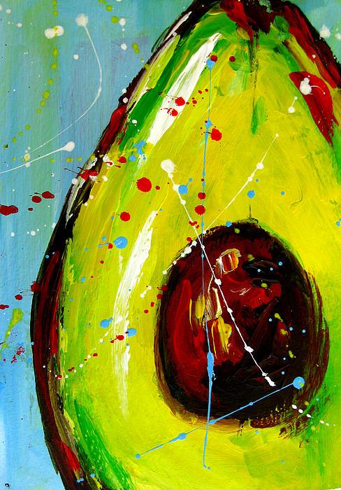 Crazy Avocado Print by Patricia Awapara
