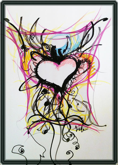 Crazy Heart Print by Jon Veitch