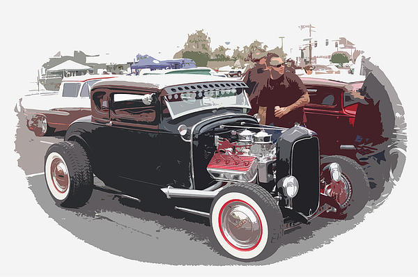Custom Ford Coupe Print by Steve McKinzie
