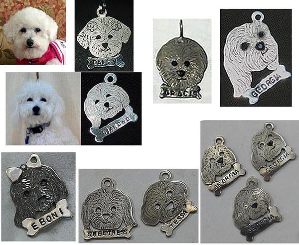 Michelle  Robison - Custom silver portrait dog tag