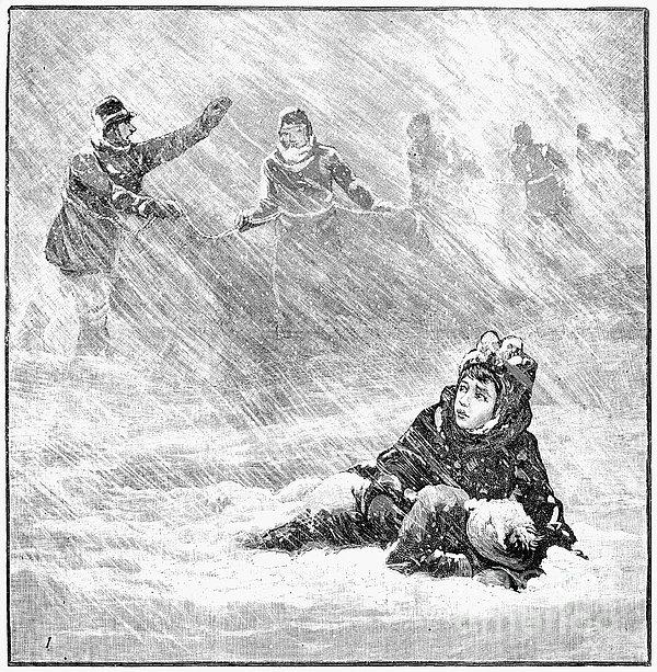 Dakota Blizzard, 1888 Print by Granger