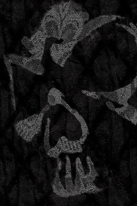 Dark Skull Print by Roseanne Jones