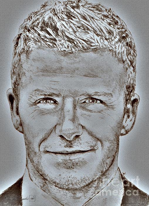 David Beckham In 2009 Print by J McCombie