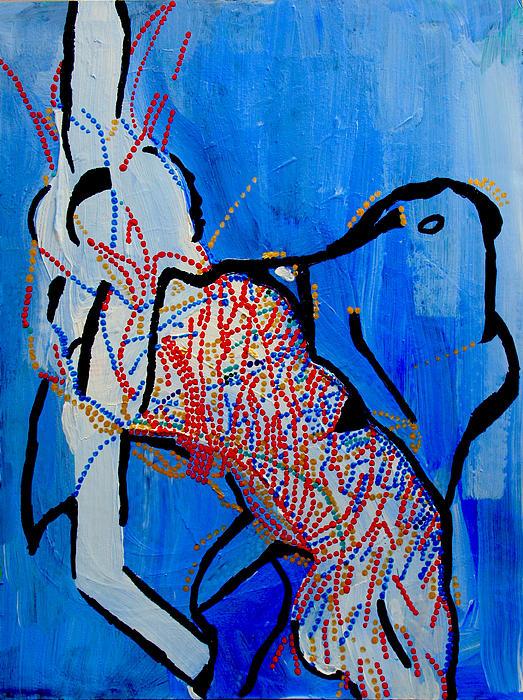 Dinka Corset - Manlual - South Sudan Print by Gloria Ssali