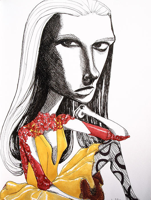 Distorted Beauty Print by Kristine Veta